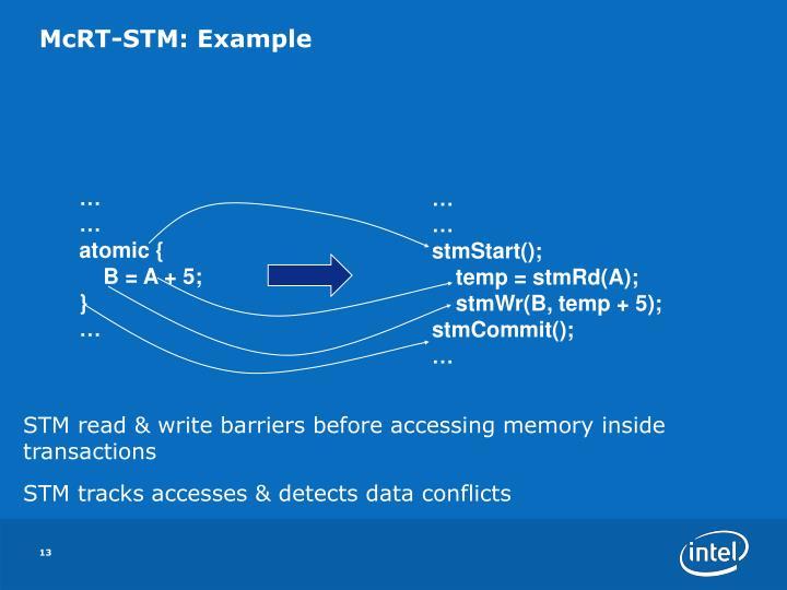 McRT-STM: Example
