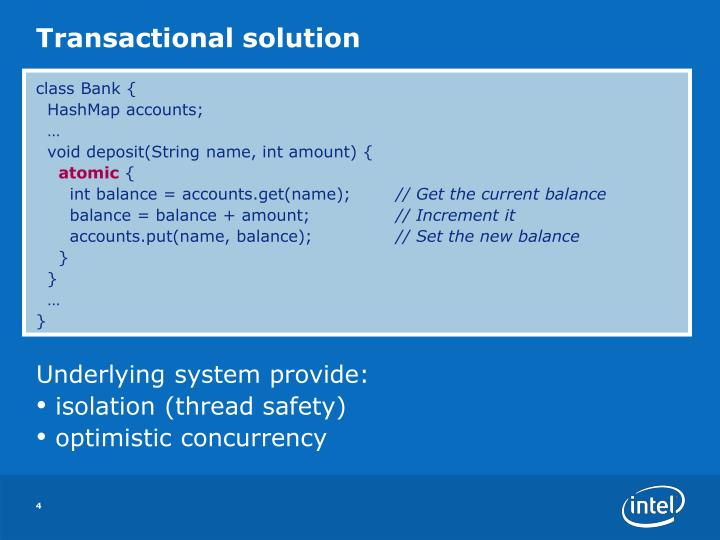 Transactional solution