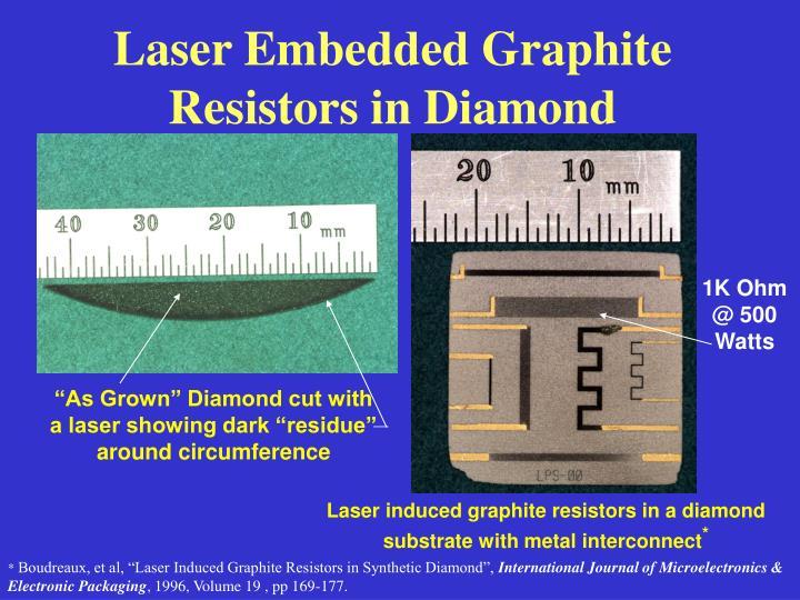 Laser Embedded Graphite Resistors in Diamond