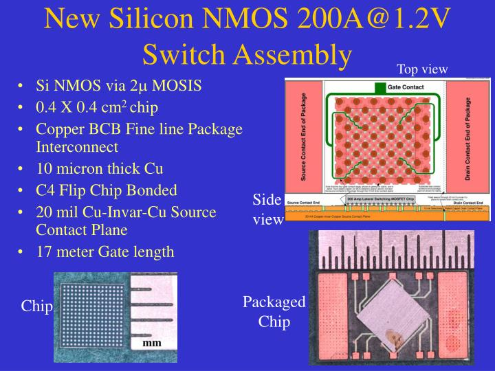 New Silicon NMOS 200A@1.2V Switch Assembly