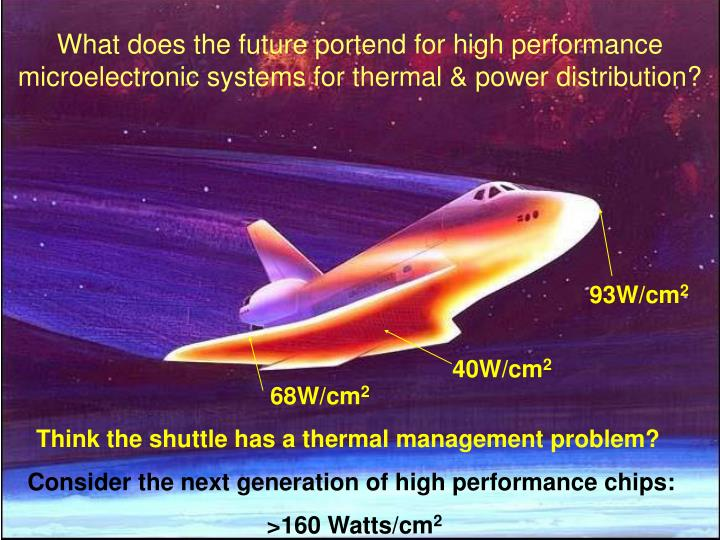 What does the future portend for high performance microelectronic systems for thermal & power distri...