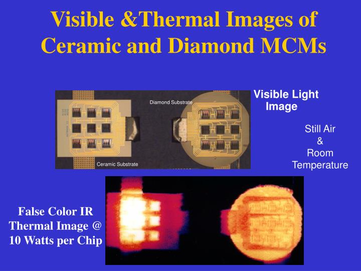 Visible &Thermal Images of Ceramic and Diamond MCMs