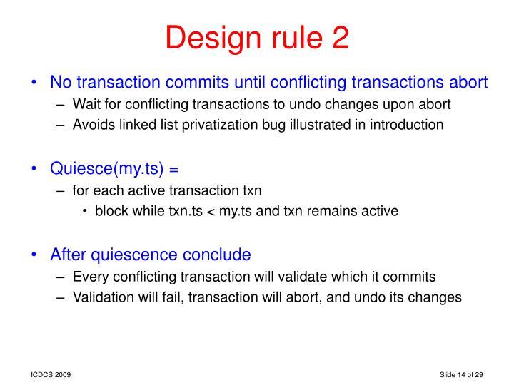 Design rule 2