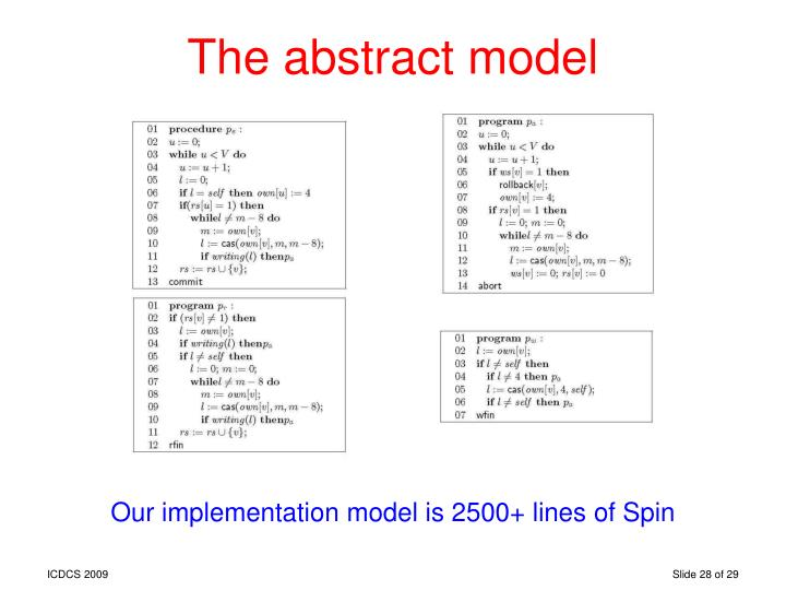 The abstract model