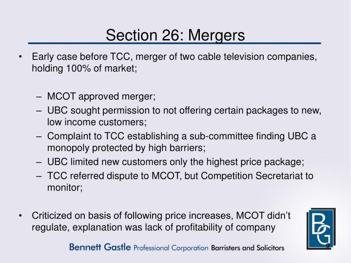 Section 26: Mergers