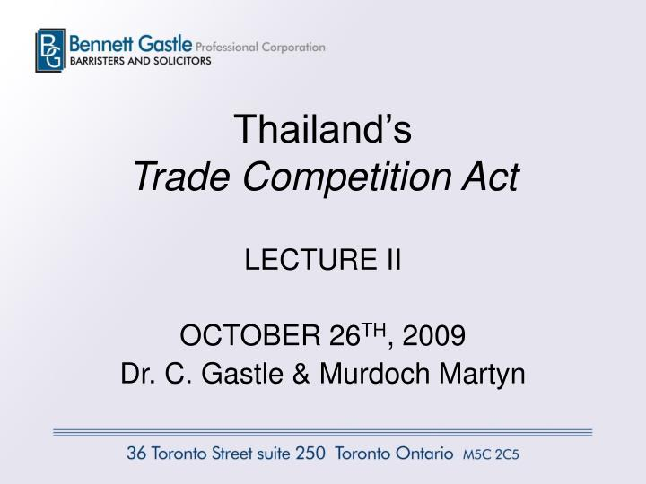 Thailand s trade competition act
