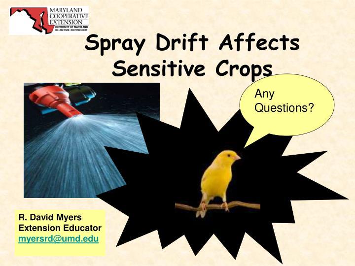 Spray Drift Affects