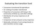 evaluating the transition fund
