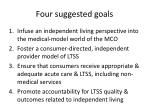 four suggested goals