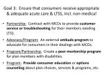 goal 3 ensure that consumers receive appropriate adequate acute care ltss incl non medical