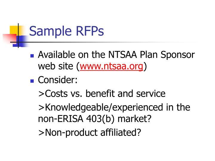 Sample RFPs