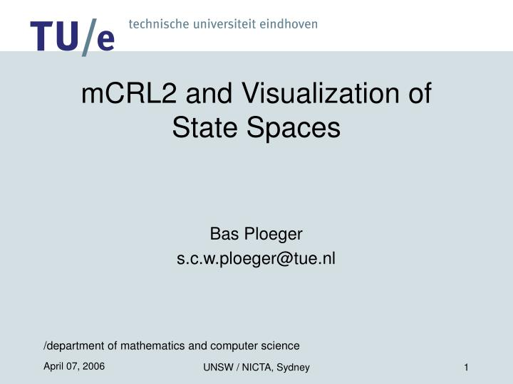 mcrl2 and visualization of state spaces
