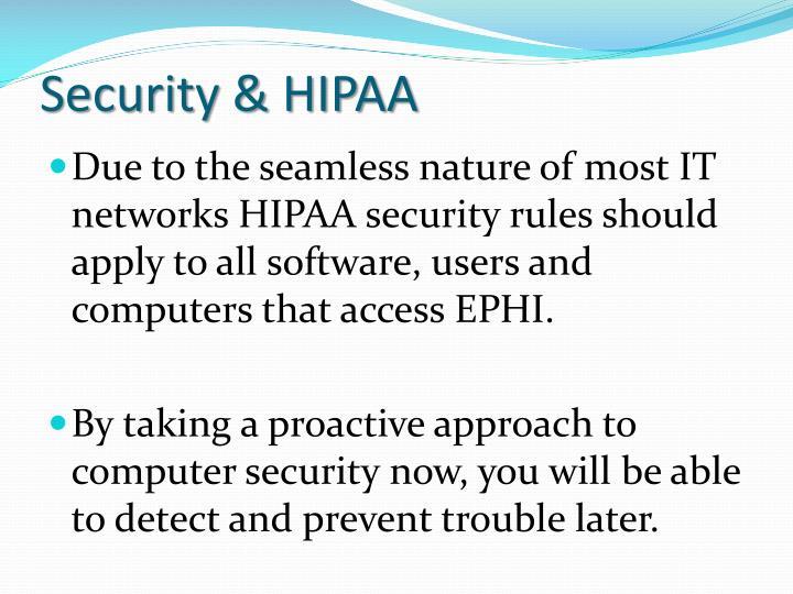 Security hipaa
