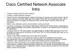 cisco certified network associate intro