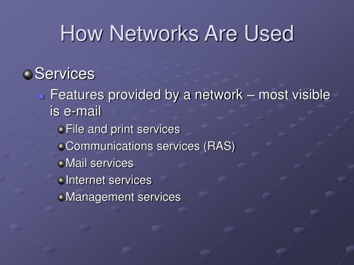 How Networks Are Used