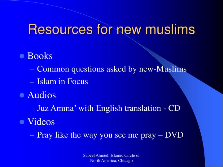 Resources for new muslims