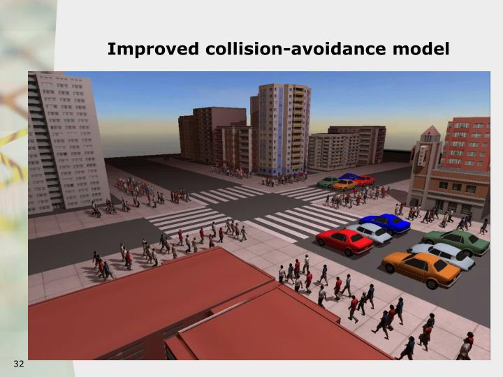 Improved collision-avoidance model