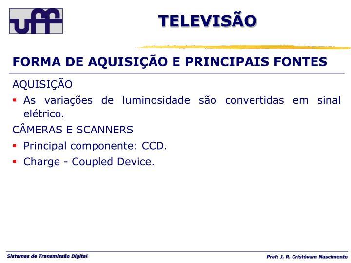 FORMA DE AQUISIÇÃO E PRINCIPAIS FONTES