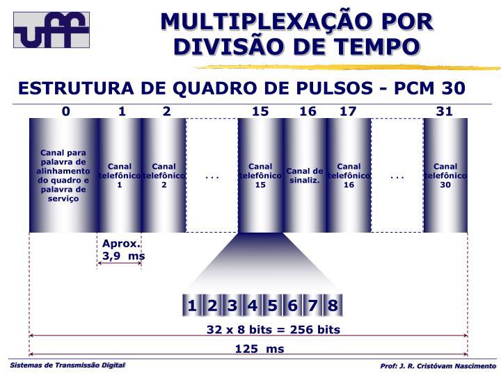 ESTRUTURA DE QUADRO DE PULSOS - PCM 30