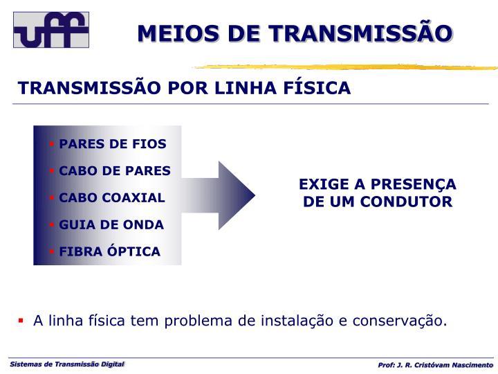 TRANSMISSÃO POR LINHA FÍSICA