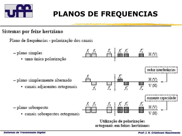 PLANOS DE FREQUENCIAS