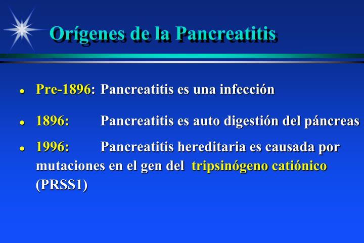 Orígenes de la Pancreatitis