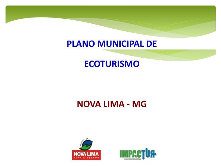 PLANO MUNICIPAL DE