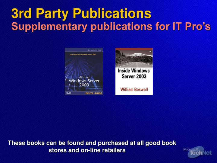 3rd Party Publications