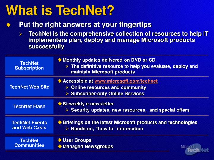 What is TechNet?