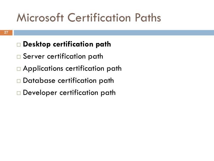 Microsoft Certification Paths