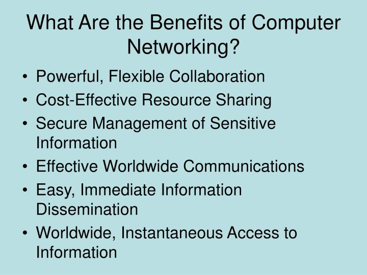 What Are the Benefits of Computer Networking?