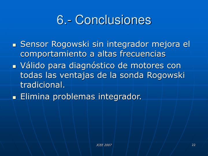 6.- Conclusiones