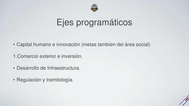 Ejes programáticos