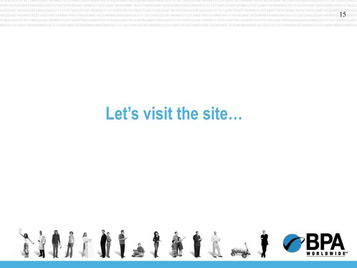 Let's visit the site…