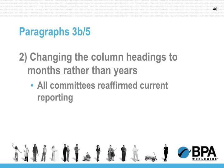 Paragraphs 3b/5