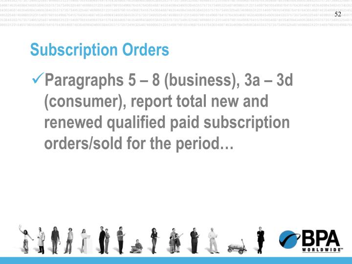 Subscription Orders