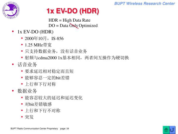 1x EV-DO (HDR)