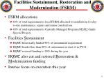 facilities sustainment restoration and modernization fsrm