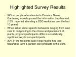 highlighted survey results1