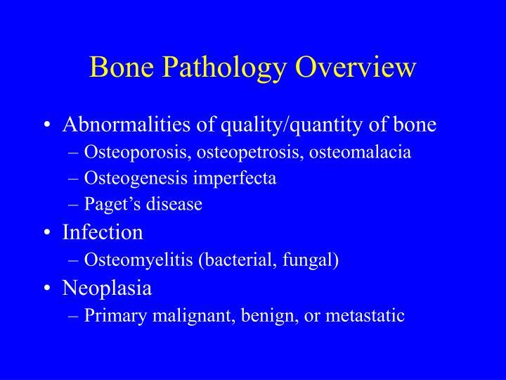 Bone Pathology Overview