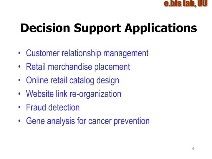 Decision Support Applications
