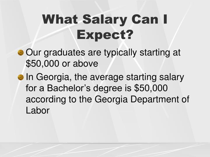 What Salary Can I Expect?