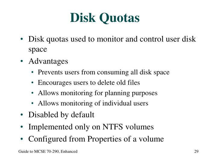 Disk Quotas