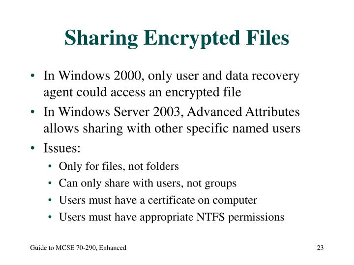 Sharing Encrypted Files
