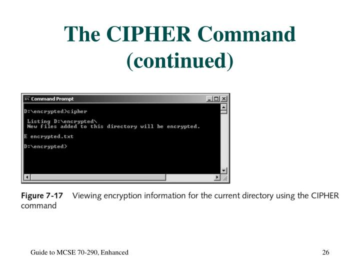 The CIPHER Command (continued)