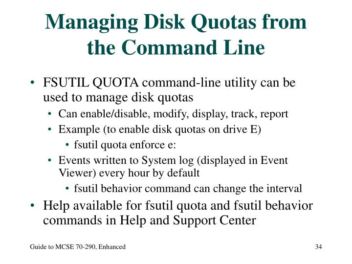 Managing Disk Quotas from the Command Line