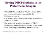 viewing dhcp statistics in the performance snap in