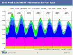 2013 peak load week generation by fuel type