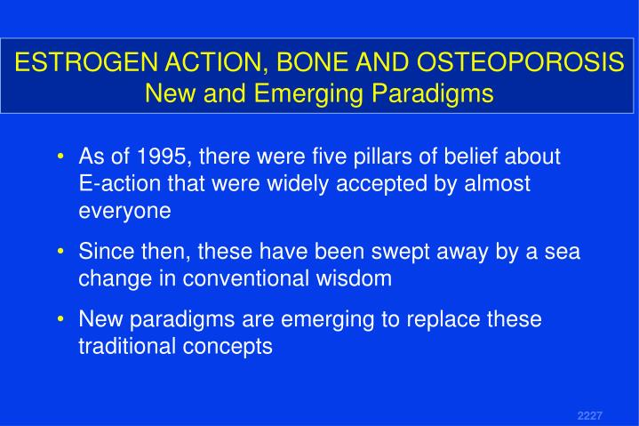 Estrogen action bone and osteoporosis new and emerging paradigms