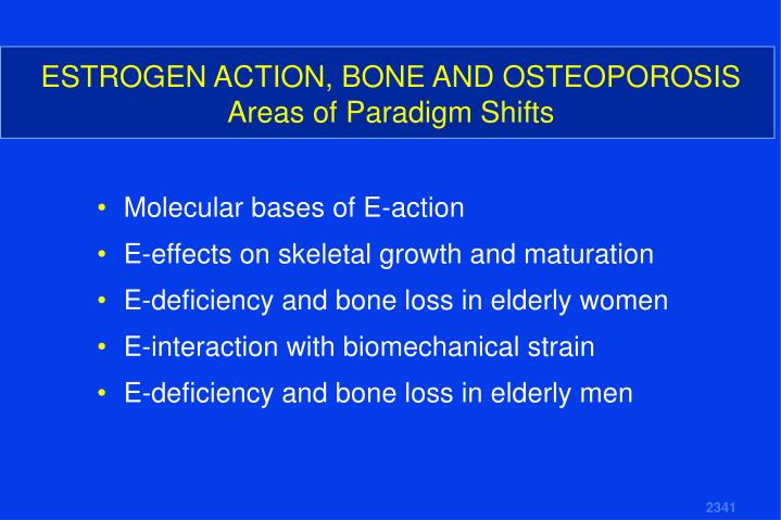 ESTROGEN ACTION, BONE AND OSTEOPOROSIS